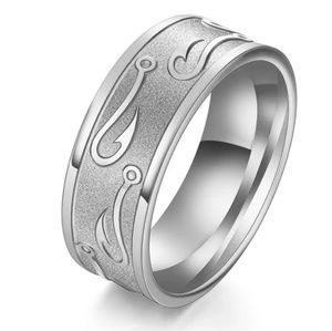 Other - Stainless Steel Ring w/Fishhook Design